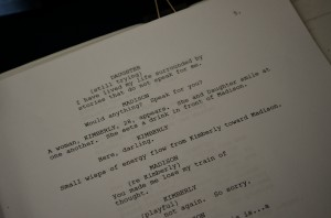 Script page photo RhaeAnna Flanigan